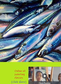 'In Rainbows' (Mackerel) inch - Oil on birch gallery panel. 'Wild Ones' group show ~ Fine Art Gallery Oil Paint Brushes, Wild Ones, Fine Art Gallery, Contemporary Paintings, American Artists, Expressionism, Rainbows, Birch, Oil On Canvas