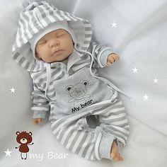 """NEU ♥ Overall """"My Bear"""" ♥ Unisex Anzug mit Kapuze ♥ Strampler 100% Baumwolle in Baby, Kleidung, Schuhe & Accessoires, Jungen   eBay"""