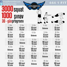 It will both strengthen and reach high numbers in terms of squat and push-ups. - You will both get stronger and reach high numbers on squat and push-ups! How about 3000 squats and - Pilates Workout, Squat Workout, Toning Workouts, At Home Workouts, Workout Fitness, Gym Motivation Women, Fitness Motivation, Fitness Tips, Weight Training For Beginners