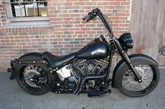 "tricked out harley davidson softail deluxe | Harley Davidson Softail Deluxe Denium Black Murdered Out 21"" Wheel ..."