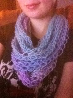 how to finish finger knitting a scarf