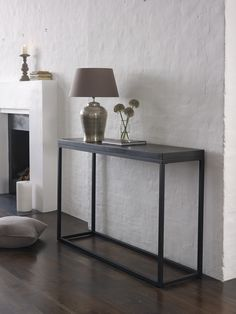 Stone console table - contemporary, clean-lined, warehouse / loft style living from Lombok
