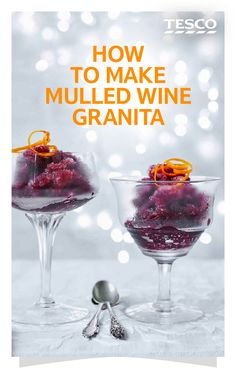 Aromatic mulled wine is a Christmas classic, but why not try a new twist with our easy mulled wine granita? Find more Christmas recipes at Tesco Real Food. Pudding Club, Tesco Real Food, Cheap Wine, Christmas Desserts, Christmas Recipes, Wine Making, The Help, Cooking Recipes, Essen