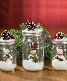 Awesome Christmas deco info are offered on our site. Read more and you wont be sorry you did. Mason Jar Christmas Crafts, Mason Jar Crafts, Mason Jar Diy, Diy Christmas Gifts, Christmas Projects, Holiday Crafts, Christmas Ornaments, Christmas Time, Mason Jar Snowman