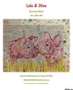 Lola & Olive - Fusible Collage Pattern by Laura Heine