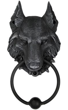 wolf door knocker