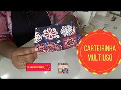 Carteirinha Multiuso Aula ao Vivo#21 - YouTube Vivo, Youtube, Facebook, Retail, Pocket Wallet, Creative, Creativity, Projects, Tutorials