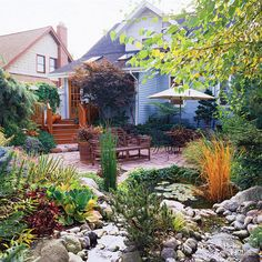 Get inspired by these beautiful garden transformations! These outdoor spaces are successful because of the beautiful floral blooms, classic fountain, pretty patio, rustic garden gate, and other thoughtful details. You won't believe the incredible change until you see these amazing before-and-after photos that show how this boring yard became a beautiful garden!