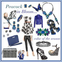 """""""Peacock in Bloom...Stella & Dot Style"""" by ingrid-nelson on Polyvore"""