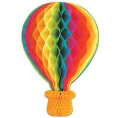 Hot air balloon fold out paper decoration