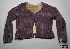 Linen warp, wool weft, Swedish, ca. 1790-1820. Nordiska Museet, nr. NM.0001372