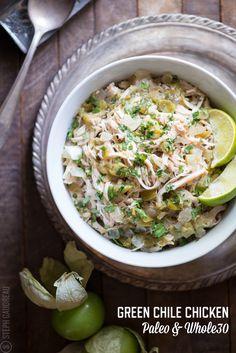 Green Chile Chicken Recipe | stupideasypaleo.com