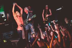 As well as airing classic tracks 'Raw Power', 'Fun House' and 'I Wanna Be Your Dog', the tiny show saw Iggy And The Stooges playing material from their forthcoming album 'Ready To Die' for the first time.