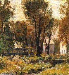 'Spring Valley Inn' by Daniel Garber (1880-1958, United States)