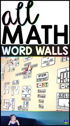 Adding a math word wall to my classroom completely changed my teaching. The visual vocabulary references allow me to more quickly move students through their confusion and link new topics to previous learning. Our word wall allows students to more independently access information, which helps gain their confidence. Includes word walls for 5th, 6th, 7th, 8th grade, Algebra, Geometry and Algebra 2. #mathwordwall