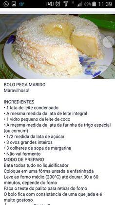 Receitas de bolos Brazillian Food, Malva Pudding, Pistachio Biscotti, Portuguese Recipes, Yummy Snacks, Cake Recipes, Bakery, Food And Drink, Cooking Recipes