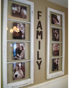 Old Windows as Pictures Frames