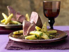 Rehrücken mit Chili-Schoko-Sauce  - smarter - und Petersilien-Schupfnudeln. Kalorien: 734 Kcal | Zeit: 80 min. #recipe