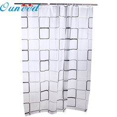 Home Wider High Quality 2017 180*200CM Fashion Black & White Grid Print Waterproof Peva Bathroom Shower Cur Drop Shipping Feb16 #Affiliate