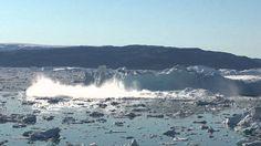 Iceberg Collapse, Sermilik Fjord, East-Greenland