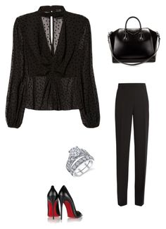 """Без названия #1575"" by newyorkstylrer ❤ liked on Polyvore featuring Nicholas, Christian Louboutin, Givenchy and Versace"