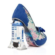 Irregular Choice R2D2 Shoe Blue Leather Fabric, Irregular Choice Star Wars Women