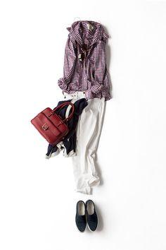 コーディネート詳細(チェックシャツを活かしたトリコロール)| Kyoko Kikuchi's Closet|菊池京子のクローゼット