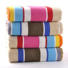 Large Cotton Bath Towels Striped Oversized Beach Towels Colorful Bath Sheets New #MMY