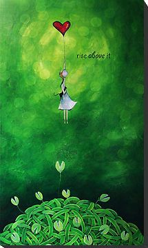 """""""Rise above it"""" Greeting Cards & Postcards by Amanda Cass   Redbubble"""