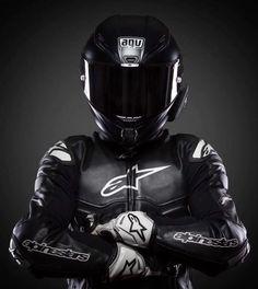 Motorcycle Suit, Motorcycle Leather, Gp Moto, Agv Helmets, Biker Love, Bike Leathers, Vintage Helmet, Motorcycle Photography, Biker Gear