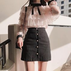 Turtle Neck Blouse And Boots Korean Fashion - Korean Fash.Turtle Neck Blouse And Boots Korean Fashion - Korean Fash. Korean Fashion Trends, Korean Street Fashion, Korea Fashion, Asian Fashion, Set Fashion, Look Fashion, Girl Fashion, Fashion Dresses, Fashion Design