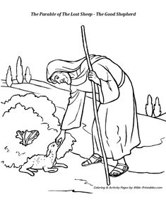 crippled lamb coloring pages - photo#12