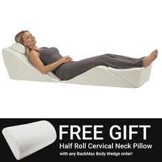 Foam Bed Wedge Elevates Your Body In A Zero-Gravity Position Back Surgery, Shoulder Surgery, Neck Support Pillow, Support Pillows, Wedge Cushion, Stress On The Body, Body Cushion, Hospital Bed, Good Sleep
