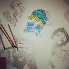 Moje rysunki, postacie z anime, ariel disneya, tak.