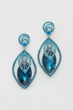 Crystal Anne Earrings in Sapphire