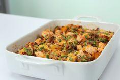 Loaded Potato and Buffalo Chicken Casserole | MyRecipes