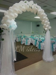 nice balloon arch!!!!!!! Entrance
