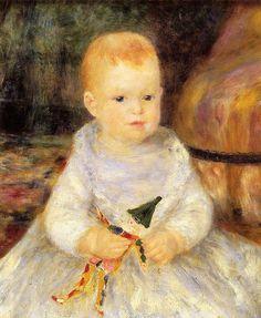 Child with Punch Doll (also known as Pierre de la Pommeraye), 1874-1875.  Renoir