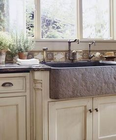 Stone Kitchen Sink - def want a stone one instead of a stainless one! tired of looking at scratches!!!!!