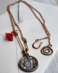 Carmen Veca Monili: New collection - Ciondoli con inglobati tessuto di... Metallica, Pendant Necklace, Jewelry, Fashion, Moda, Jewels, Fashion Styles, Schmuck, Jewerly
