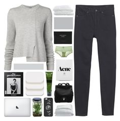"""""""there's no turning back now."""" by annamari-a ❤ liked on Polyvore featuring mode, Monki, Frette, Proenza Schouler, Acne Studios, Cosabella, Alöe, Casetify, COVERGIRL et Aesop"""