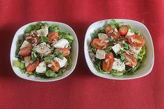 Pak Choi-Tomate-Mozzarellasalat, ein sehr schönes Rezept aus der Kategorie Snacks und kleine Gerichte. Snacks, Cobb Salad, Potato Salad, Potatoes, Mexican, Chicken, Cooking, Ethnic Recipes, Food