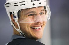 Luke Schenn... can't wait for the season to start so he can play with his bro :)