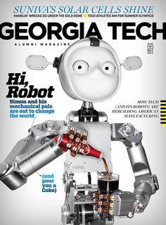 GT Alumni Magazine featuring Simon the robot.