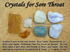 Crystals for Sore Throat