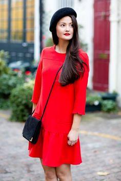 red dress #peonylim @lucearow