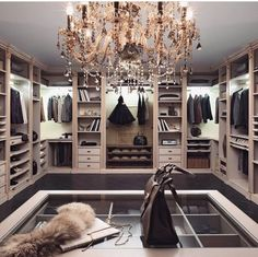 Explore the best of luxury closet design in a selection curated by Boca do Lobo to inspire interior designers looking to finish their projects. Discover unique walk-in closet setups by the best furniture makers out there Walk In Closet Design, Closet Designs, Diy Walk In Closet, Closet Redo, Master Closet, Closet Bedroom, Master Bedroom, Fancy Bedroom, Closet Space