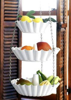DIY Produce rack from Bundt pans! So cool!