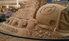 Green Bay Packers Sand Sculpture...this was in the mall