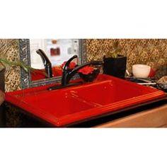 Red Kitchen Sink Advantage 32 jamestown red self rim double bowl kitchen sink love the idea of a red sink workwithnaturefo